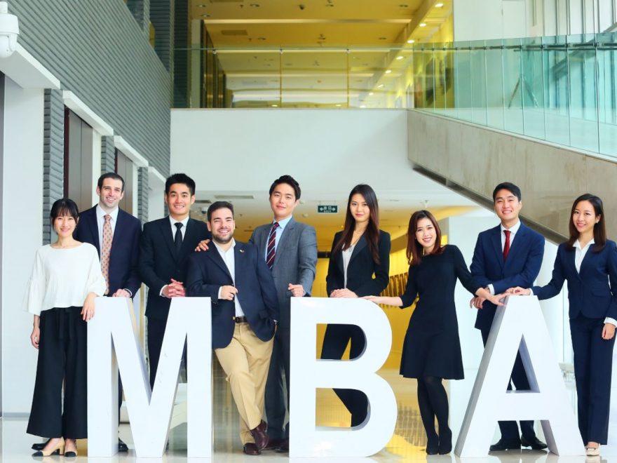 Estudiantes de MBA de negocios