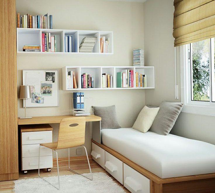 cuarto con espacio de estudio